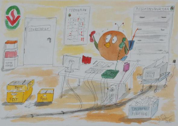 Kunst Büro_Ballbirds_Volkssolidarität_Rechnungsabteilung