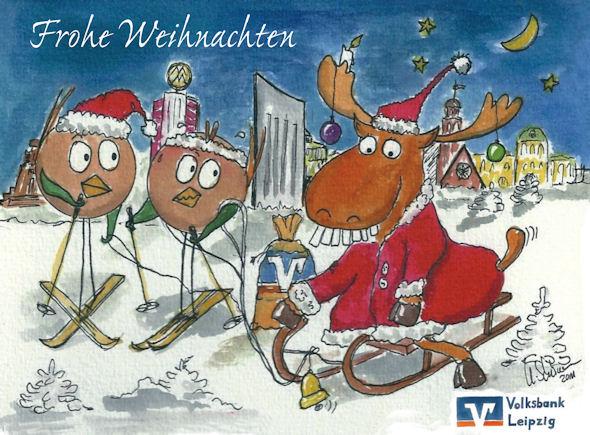 Karte malen lassen zu Weihnachten_Ballbirds.de_Leipzig
