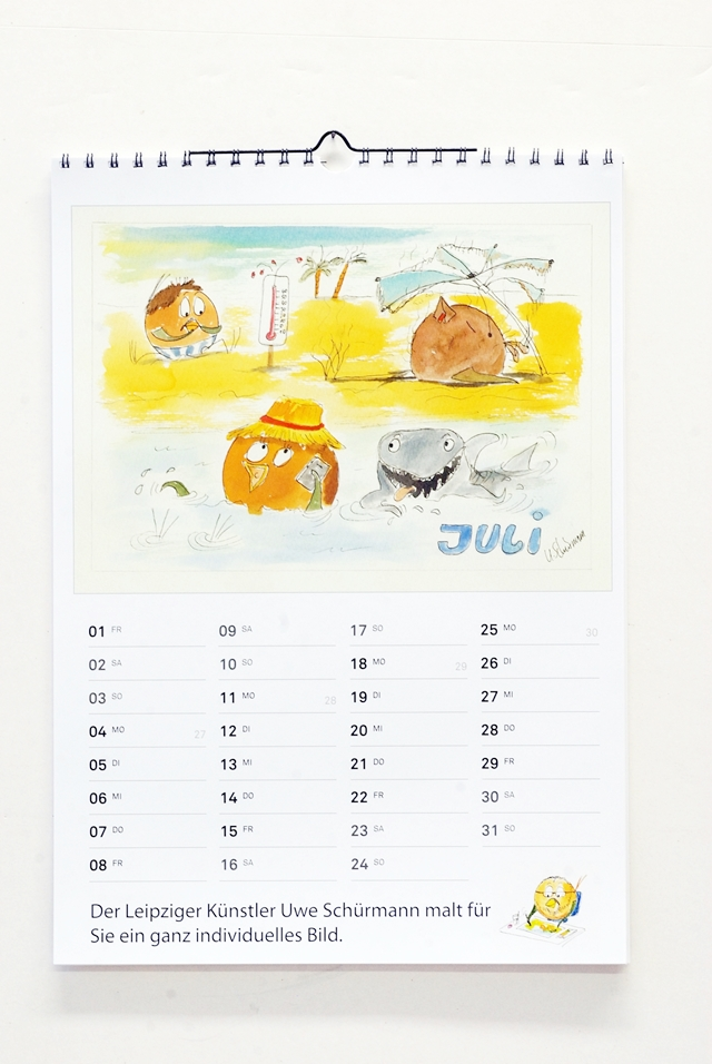 Kalender mit Ballbirds_Juli