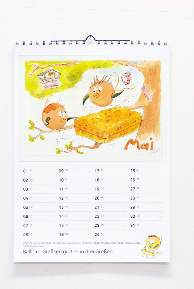 Kalender mit Ballbirds_Mai